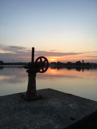 nakhon pathom: sunset on the lake