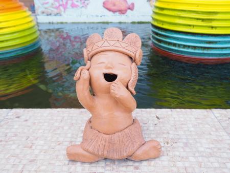 redskin statue Stock Photo
