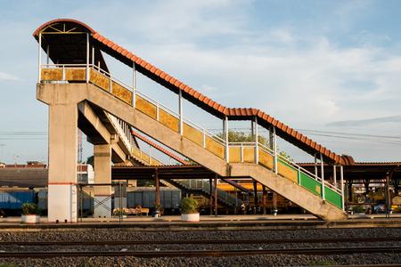 foot bridges: Full Frame Overpass walkway up