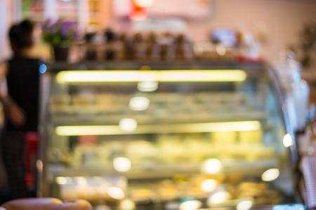 shop display: Blurred background shop display Dessert Showcase