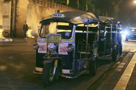 tuktuk: Tuktuk in the old town - Chiangmai , Thailand