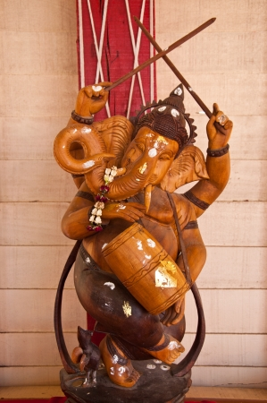 Ganesh is a Hindu God.  photo