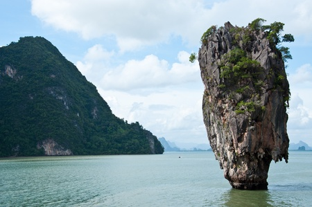 Tapu island or James Bond island in Phang Nga bay,Thailand photo