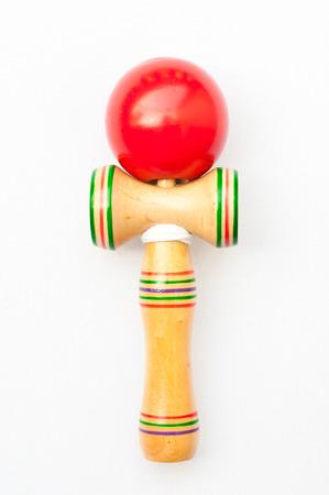 adroitness: Kendama traditional Japanese toy isolated on white background Stock Photo