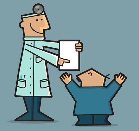 good news: A doctor is giving good news to the patient based on the results of the analyzes