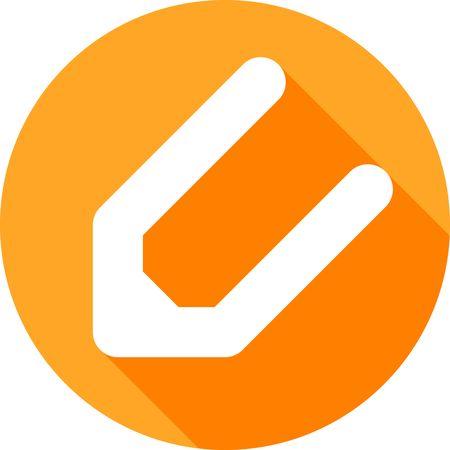 modificar: Un icono naranja ronda para el móvil que representa el botón Modificar Vectores