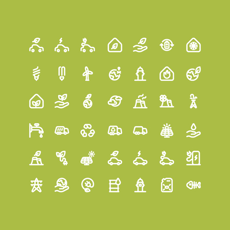 nickel panel: Environment & Ecology Outline Bold Icons