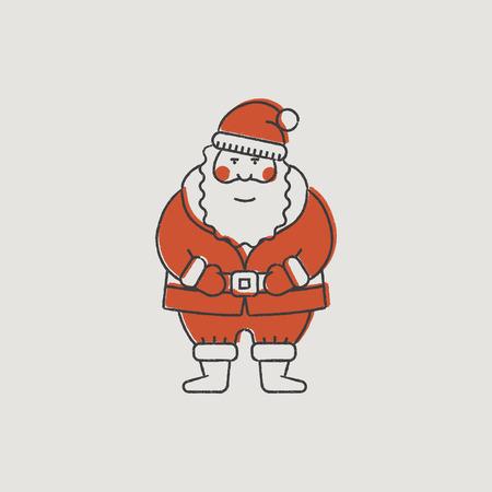 santa s helper: Santa Claus Hand-Drawn Color