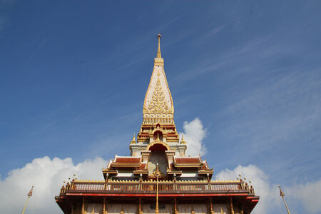 prang temple in thailand photo