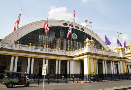 rapid steel: Hua Lamphong Train station in bangkok Thailand