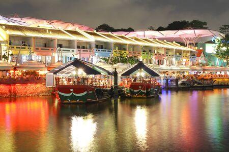 night view at Singapore Clarke Quay