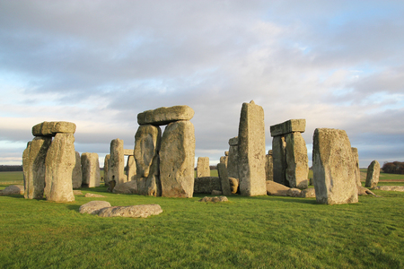 the stones of Stonehenge, England Stock Photo