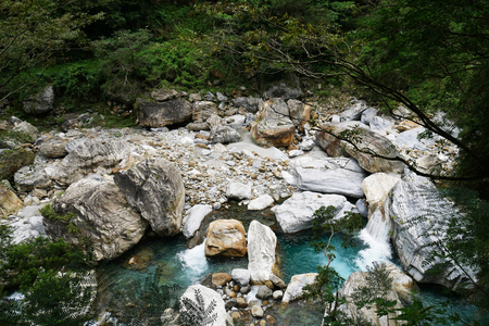 View of taroko National park landscape in Hualien,taiwan. Stock Photo