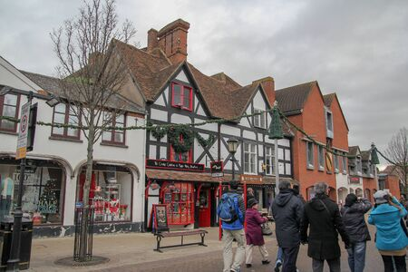 Stratford upon Avon, UK-December 5 ,2013 :Old village and buildings is most famous in the Stratford upon Avon because birthplace of William Shakespeare.