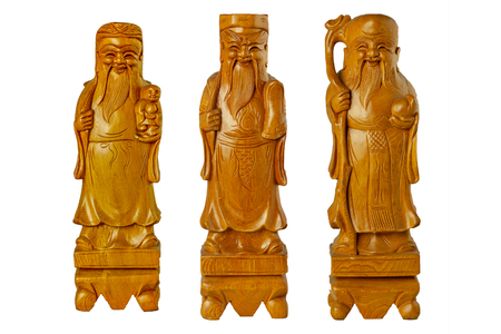 HOK LOK SIEW or FU LU SHOU three gods of china is famous god Because respect from chinese people. 版權商用圖片