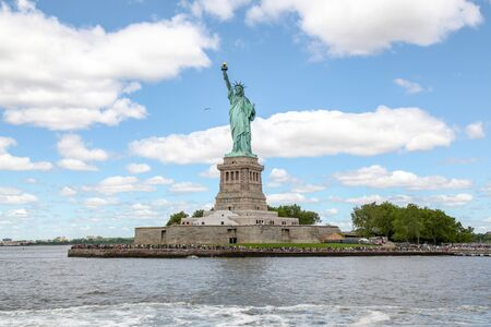 New york, USA - June 15, 2018 : Tourist visit the Statue of liberty is American symbol have famous in New York, USA