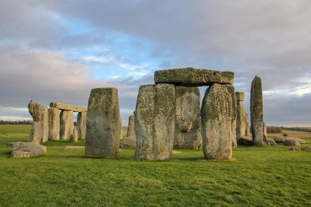 the stones of Stonehenge, a prehistoric monument in Wiltshire, England. Stockfoto