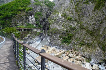 The walk way and View of taroko National park landscape in Hualien,taiwan.