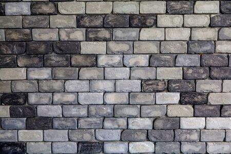 vecchio muro di mattoni per il tono di sfondo in bianco e nero