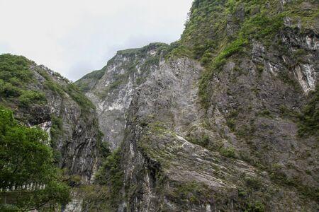 The mountain in taroko national park after rain storm in taiwan.