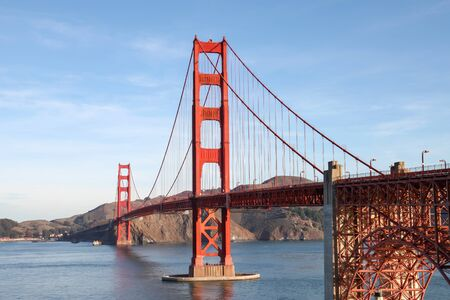 The Golden Gate Bridge is landmark and famous building in San Francisco, California, USA Zdjęcie Seryjne
