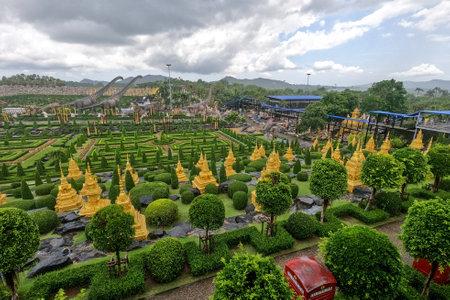 Pattaya,Thailand-September 4,2020:View of The garden is beautiful in  Nong Nooch Tropical Botanical Garden