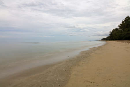 view of landscape sea and sand bay in island at thailand