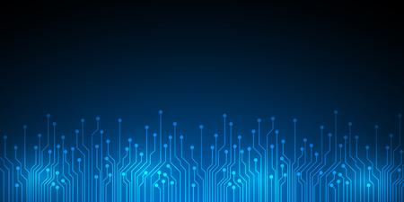 抽象的なデジタル技術の背景  イラスト・ベクター素材