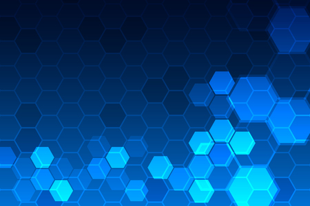 Blue hexagon pattern , Abstract technology background