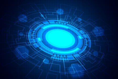 Abstract blue digital technology background
