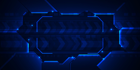 electronic background: Hi-tech speed technology , Abstract blue frame digital background
