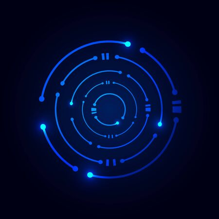Circle digital technology  , logo design template