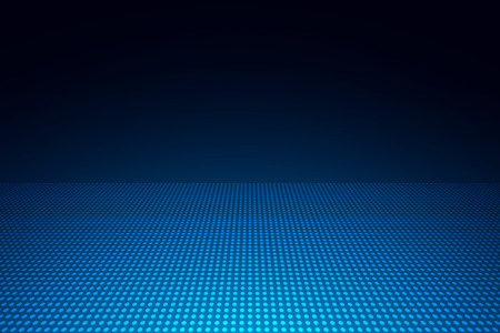Abstract blue dots background with copy space