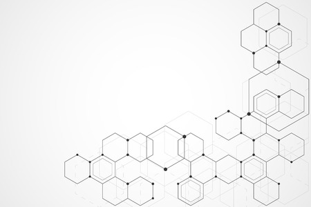 Abstract hexagon background , Technology polygonal concept