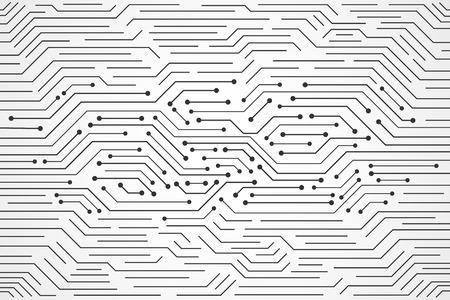 Fondo de tecnología abstracta, patrón de placa de circuito