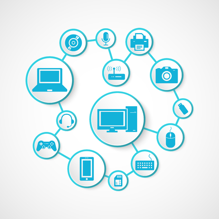 Devices icon and technology , connection concept Illustration