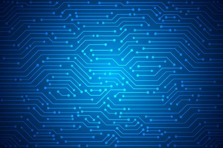 Abstract Technology Background , blue circuit board pattern Ilustração Vetorial