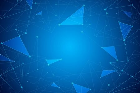 Abstract geometric background, connection concept