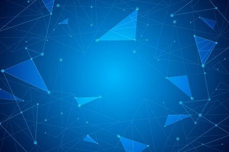 Fondo geométrico abstracto, concepto de conexión