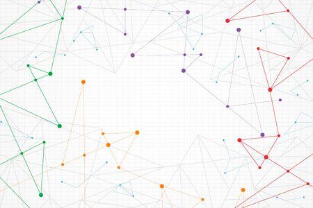 Fondo geométrico colorido abstracto, poli baja