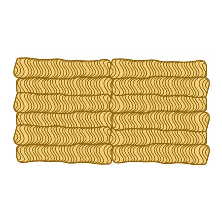 instant noodle block, vector illustration