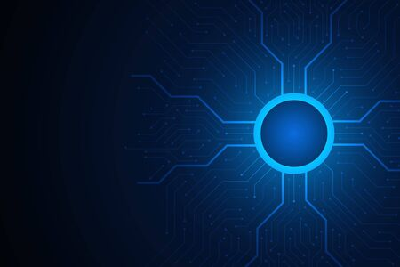Technology Background, blue circuit board pattern