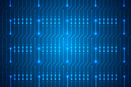 Microchip Technology Background, blue digital circuit board pattern