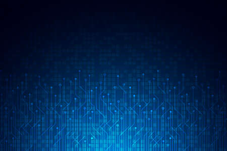 Circuit board pattern, Technology square grid background