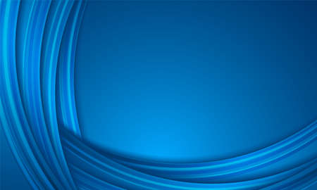 Abstract blue background, circular overlay, curve pattern
