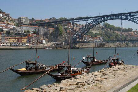 Porto , the Duoro River and Historic Town Stock Photo