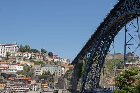 Porto and the famous steel bridge ponte dom luis I