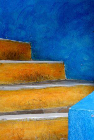 Oia Stairs Stock Photo