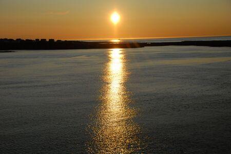 reflektion: Sunset Stock Photo