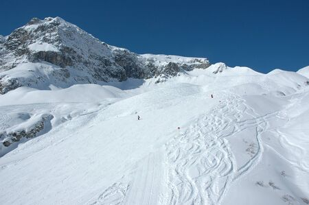 Skiing Region in Z�rs - Arlberg, Austria